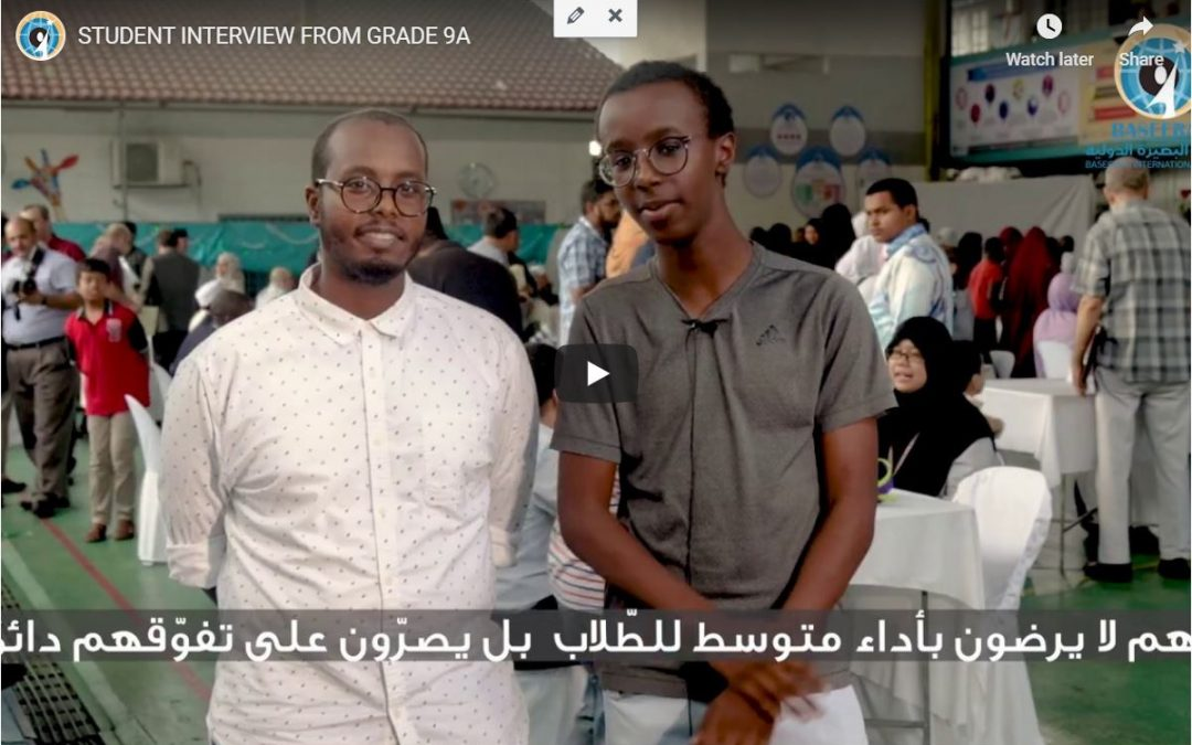 STUDENT INTERVIEW FROM GRADE 9A