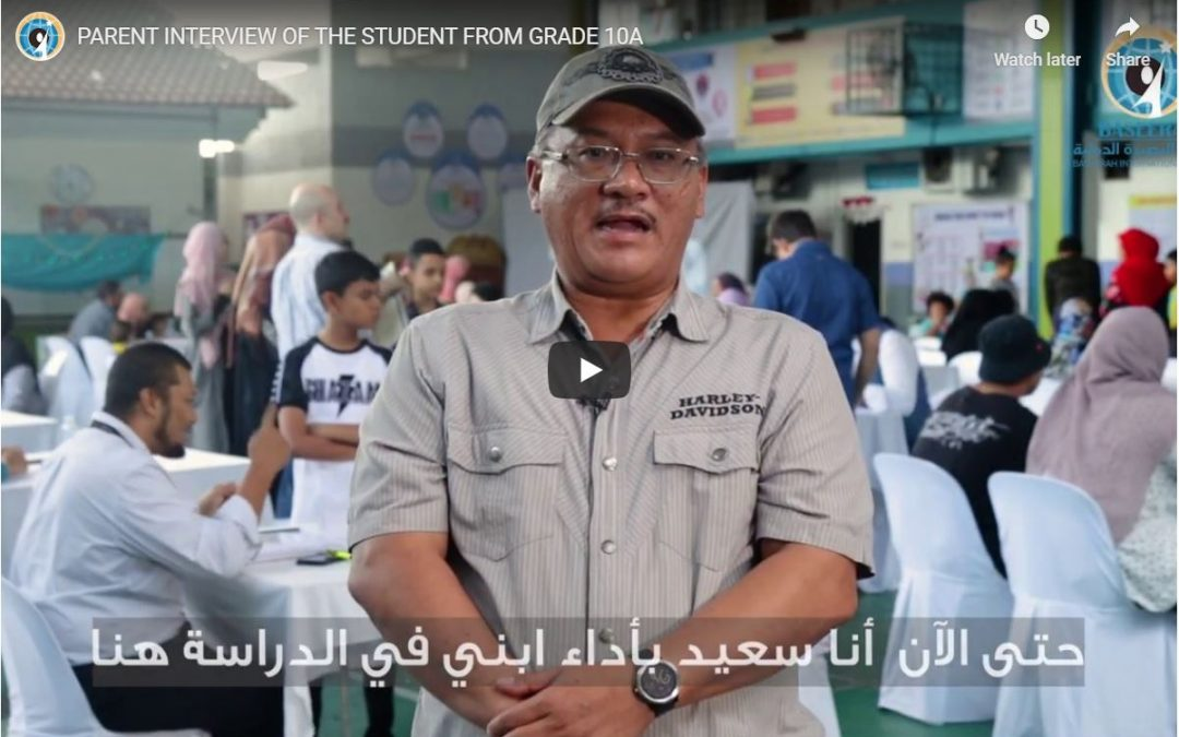 PARENT INTERVIEW OF THE STUDENT FROM GRADE 10A