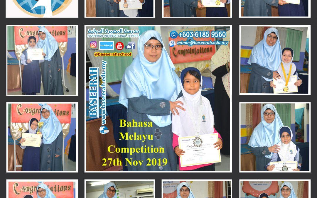 Bahasa Melayu Competition 27th Nov 2019