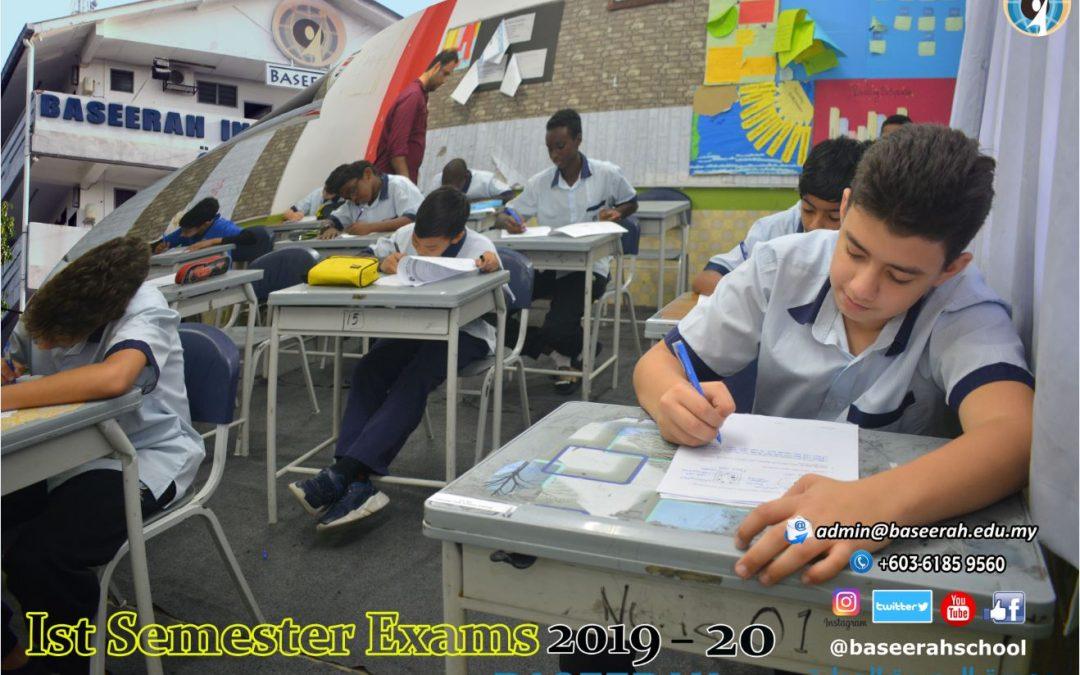 1st Semester Exams 2019-20