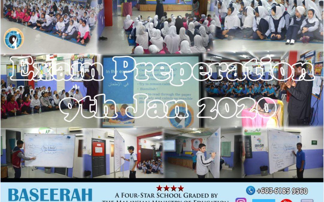EXAM PREPARATION ON 9TH JAN 2020
