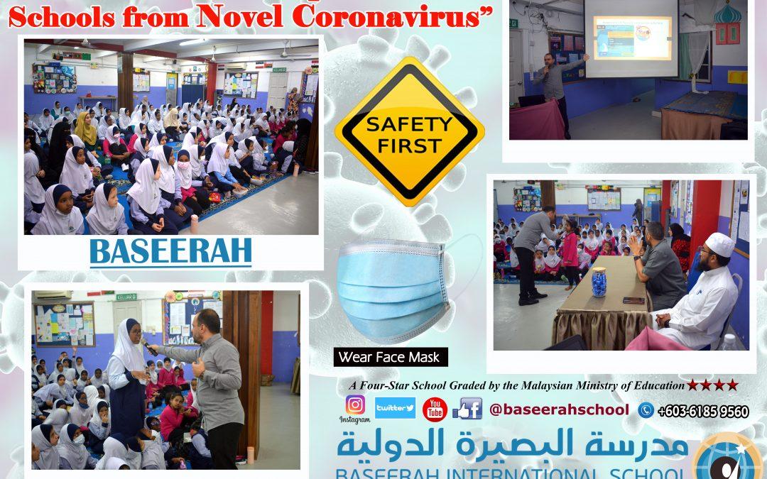 """PRECAUTIONS TO PROTECT SCHOOLS FROM NOVEL CORONAVIRUS"""