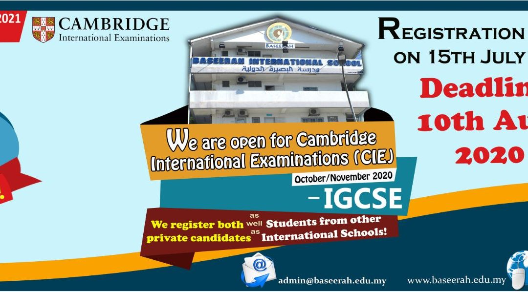 A Level has now opened at Baseerah International School !