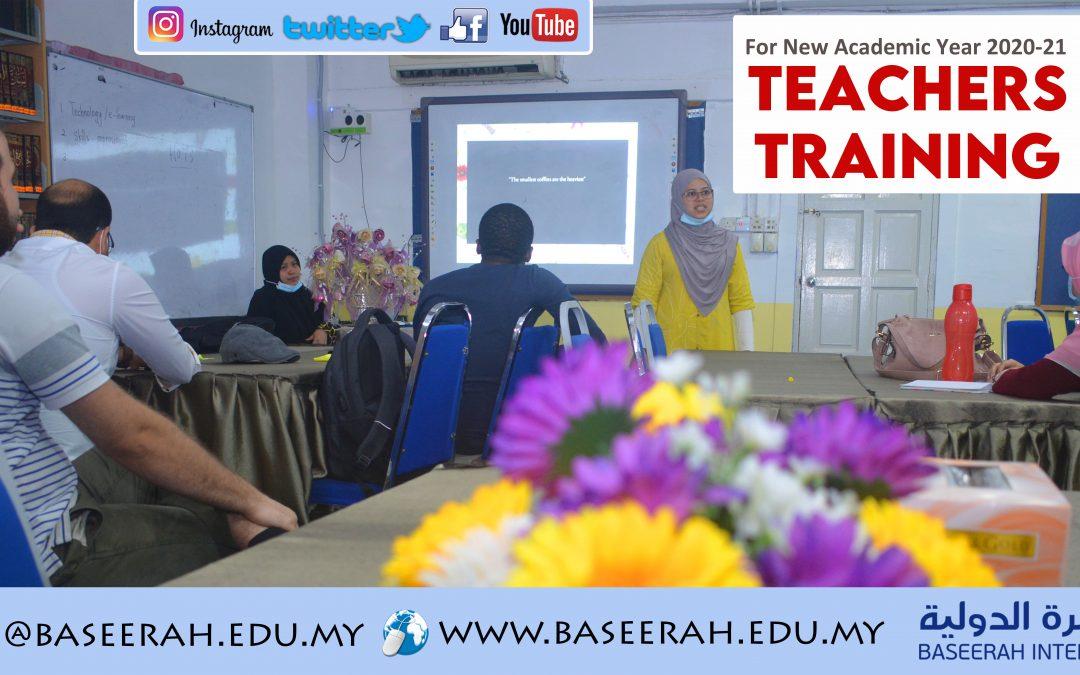 Teachers Training for New  Academic Year 2020-21